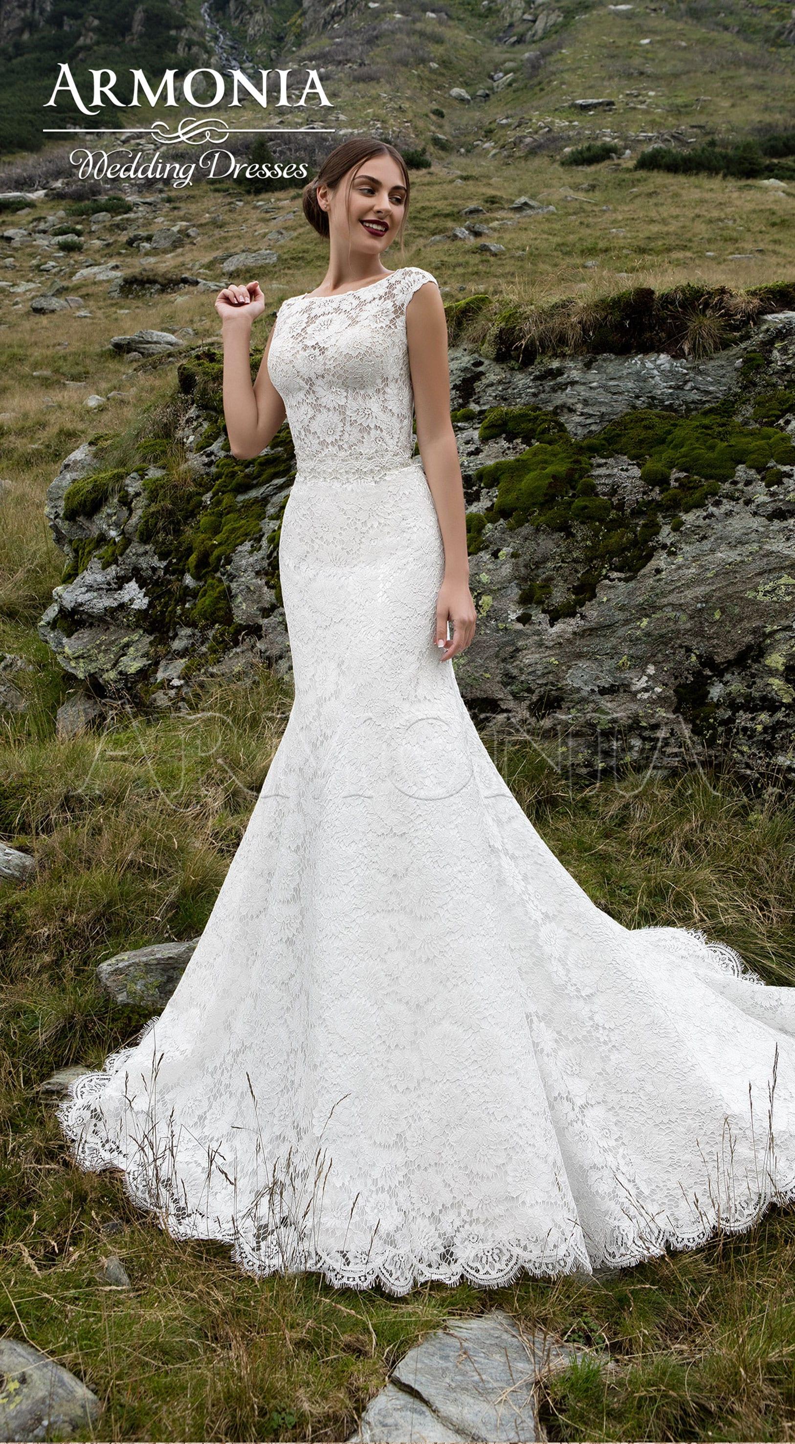 свадебное платье рыбка со шлейфом Foxtrot