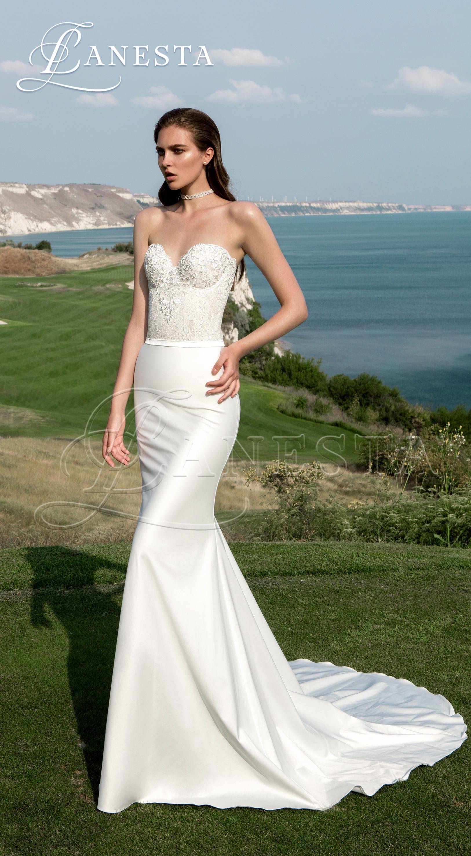 свадебное платье со шлейфом Persey